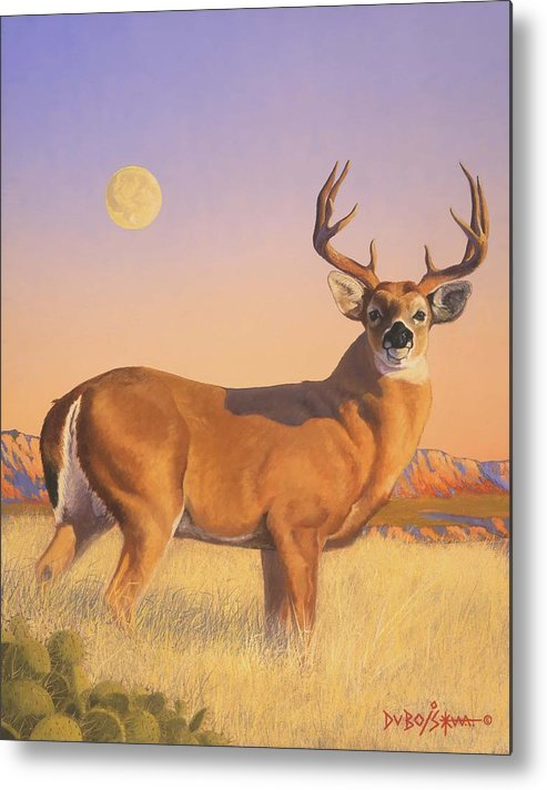 Deer Metal Print featuring the painting The Stag by Howard Dubois
