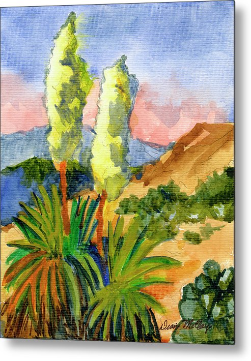 Yuccas Metal Print featuring the painting Yuccas by Diane McClary