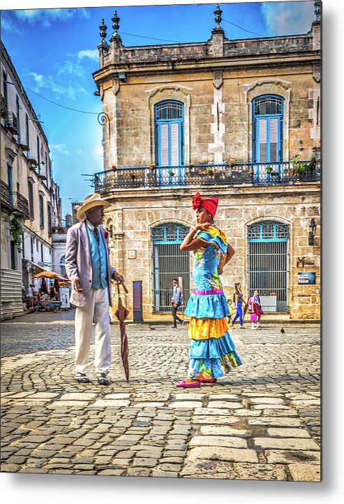 Havana Metal Print featuring the photograph Man And Woman by Bill Howard