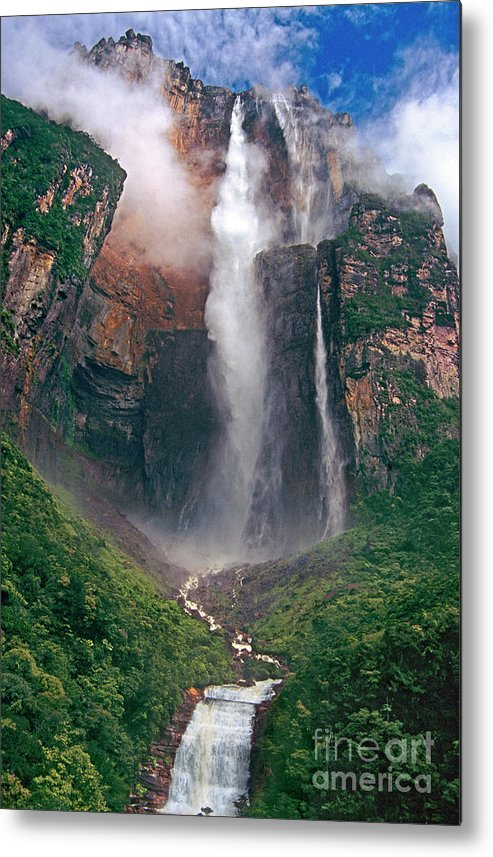 Angel Falls Metal Print featuring the photograph Angel Falls In Venezuela by Dave Welling