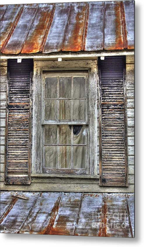 Rusted Tin Roof Metal Print featuring the photograph I'm Watching You by Benanne Stiens