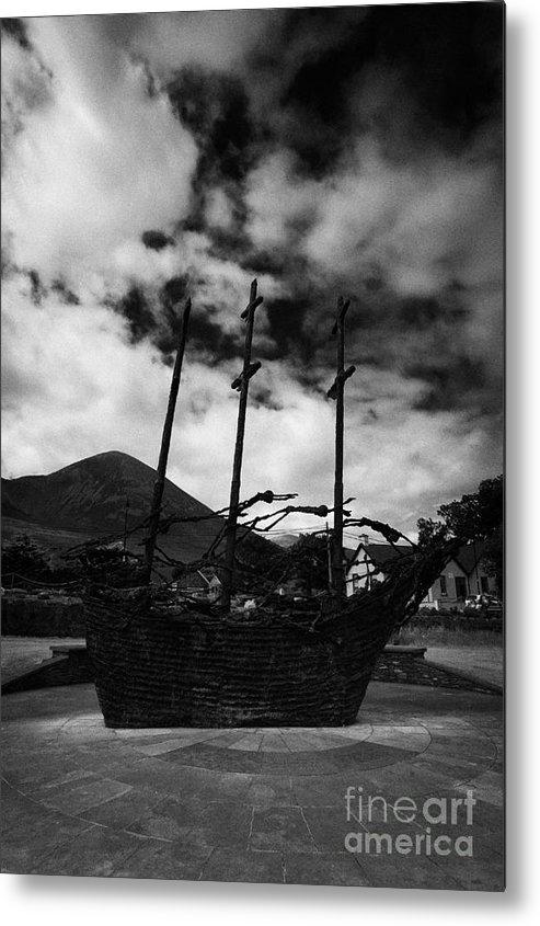 Ireland Metal Print featuring the photograph National Famine Memorial The Skeleton Ship By John Behan by Joe Fox