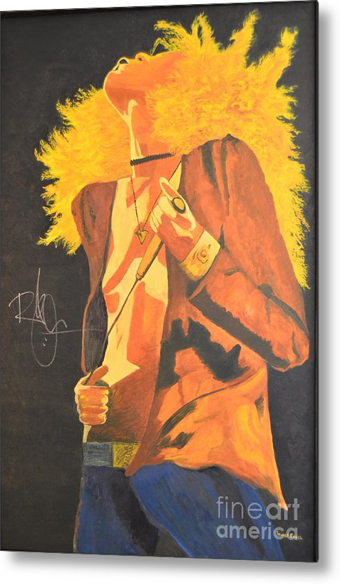 Robert Plant Metal Print featuring the painting Plant II by Stuart Engel