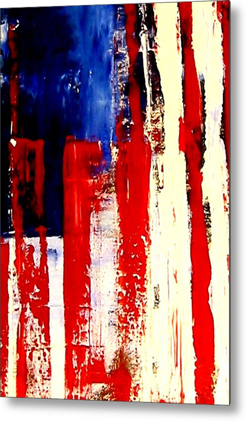 Flag Metal Print featuring the painting Independence Day by Charles Jos Biviano