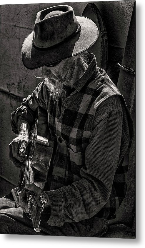Thomas Gartner Metal Print featuring the photograph Tom And His Steel Guitar by Thomas Gartner