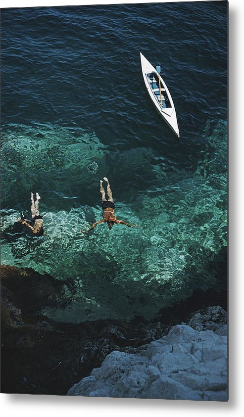 People Metal Print featuring the photograph Capri Holiday 1 by Slim Aarons