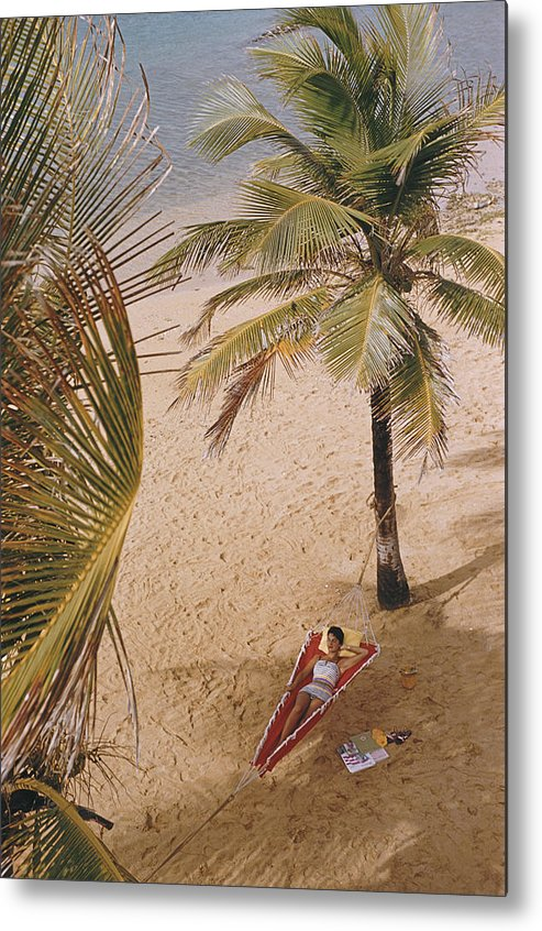 Tranquility Metal Print featuring the photograph Caribe Hilton Beach 1 by Slim Aarons