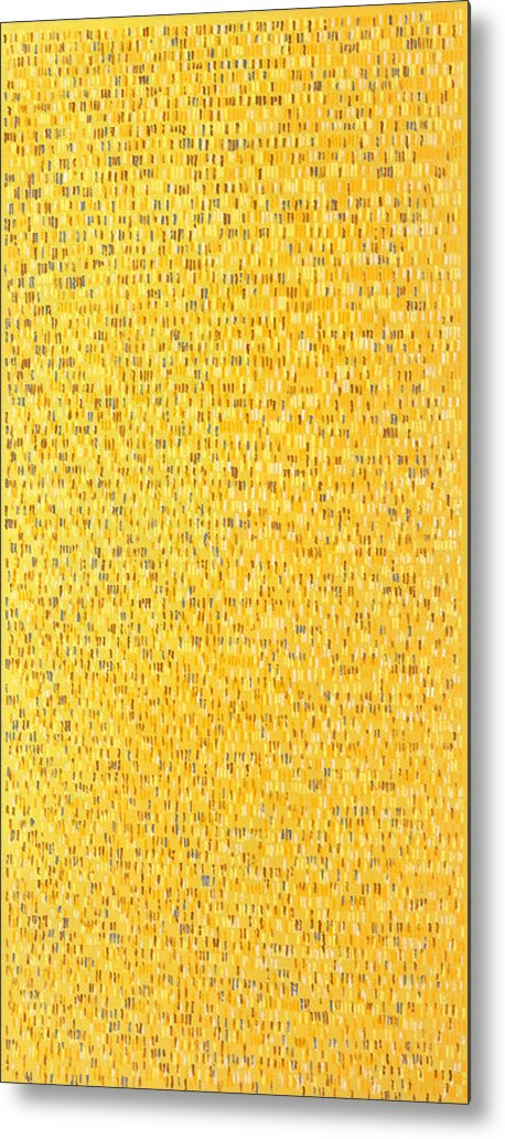 Abstract Pattern Yellow Brown White Pink Grey Metal Print featuring the painting Africa12 by Joan De Bot