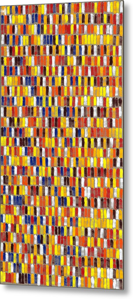 Abstract Metal Print featuring the painting Facseven by Joan De Bot