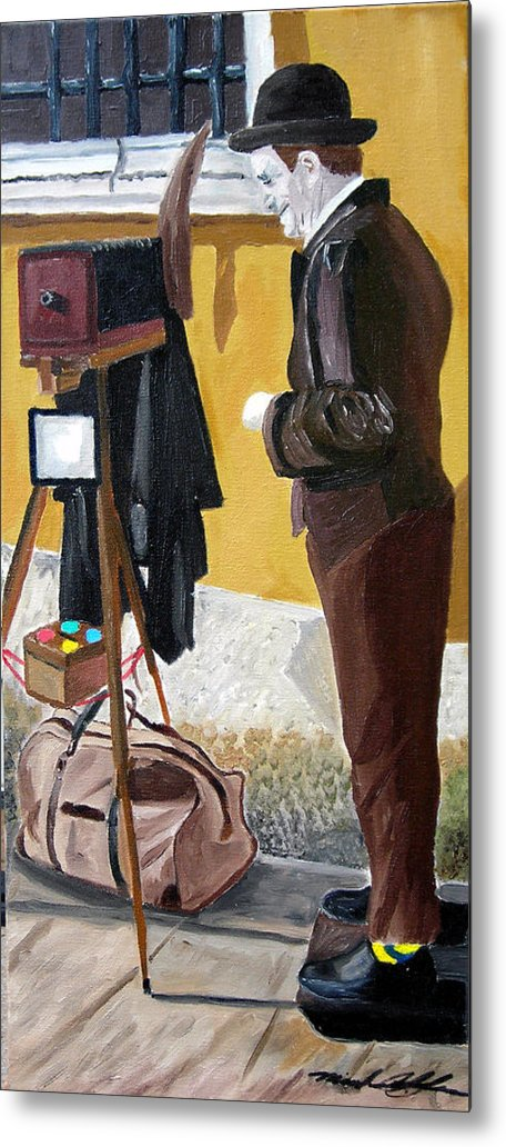 Mime Metal Print featuring the painting Portrait Of Identity by Michael Lee