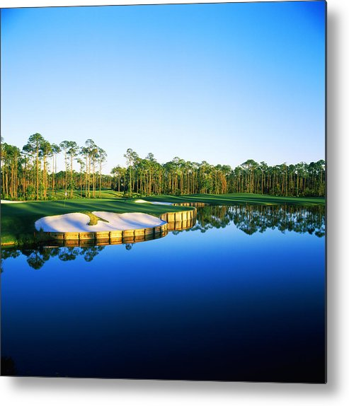 Photography Metal Print featuring the photograph Golf Course At The Lakeside, Regatta by Panoramic Images