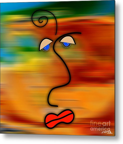 Picasso Art Metal Print featuring the mixed media The Face by Marvin Blaine