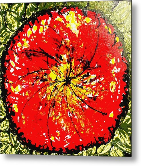 Flowers Metal Print featuring the painting Wall Of Heavenly Flowers by Baljit Chadha