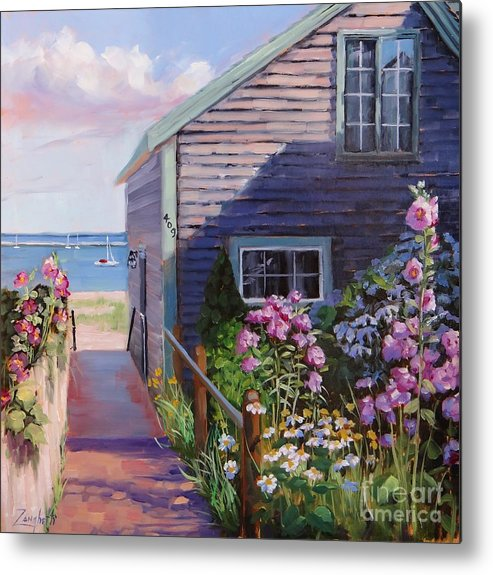 Laura Zanghetti Metal Print featuring the painting A Visit To P Town Two by Laura Lee Zanghetti