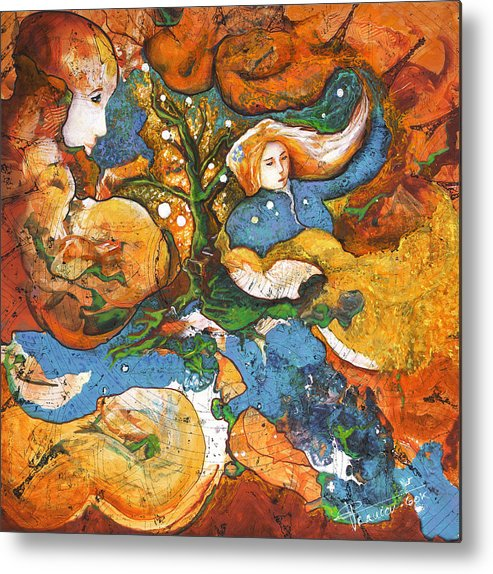 Earth Metal Print featuring the painting A World Apart by Valerie Graniou-Cook