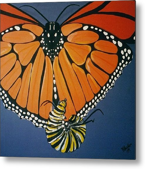 Butterfly Metal Print featuring the painting Ah To Fly by Joan Stratton