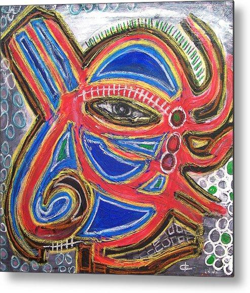 Oilpastels Metal Print featuring the digital art Alien In All by Kamoni Khem