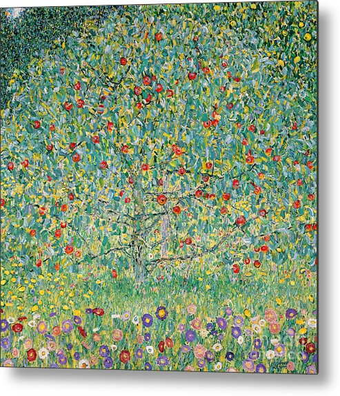 Gustav Klimt Metal Print featuring the painting Apple Tree I by Gustav Klimt