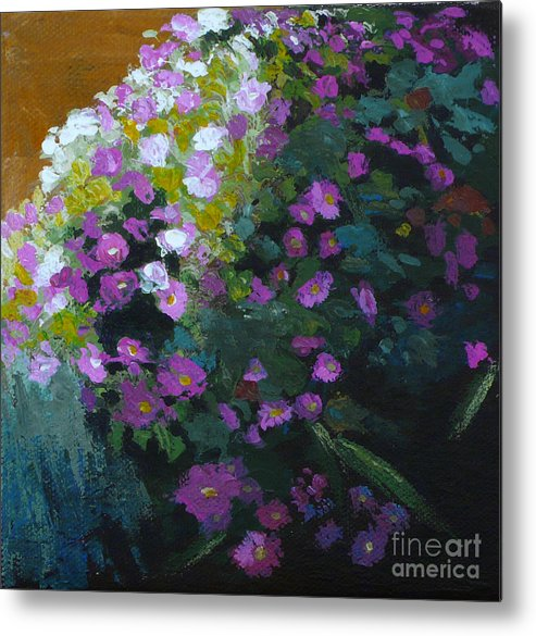 Contemporary Floral Painting Metal Print featuring the painting Asters by Melody Cleary