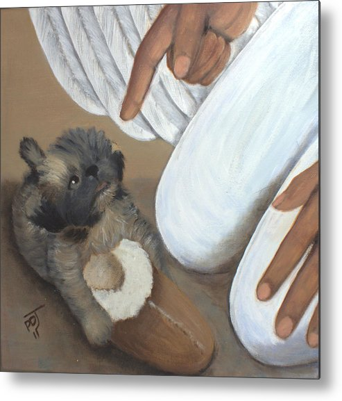 Puppy Metal Print featuring the painting Be Good Smokey by Pamorama Jones