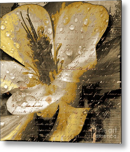 Metal Print featuring the mixed media Beautiful by Yanni Theodorou