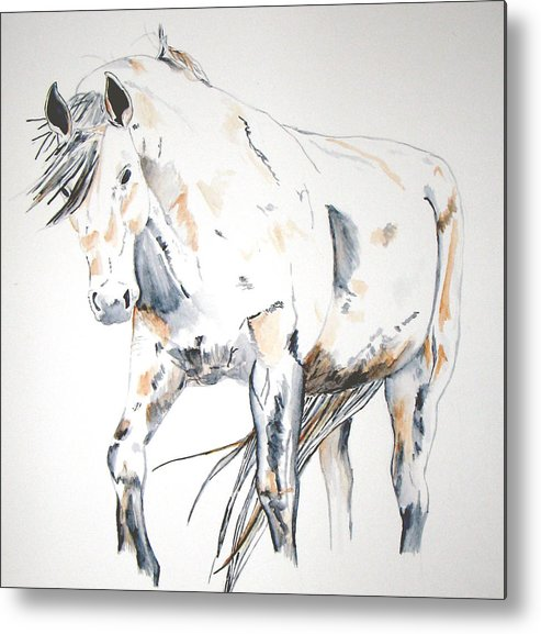 Horse Metal Print featuring the painting Beauty by Crystal Hubbard