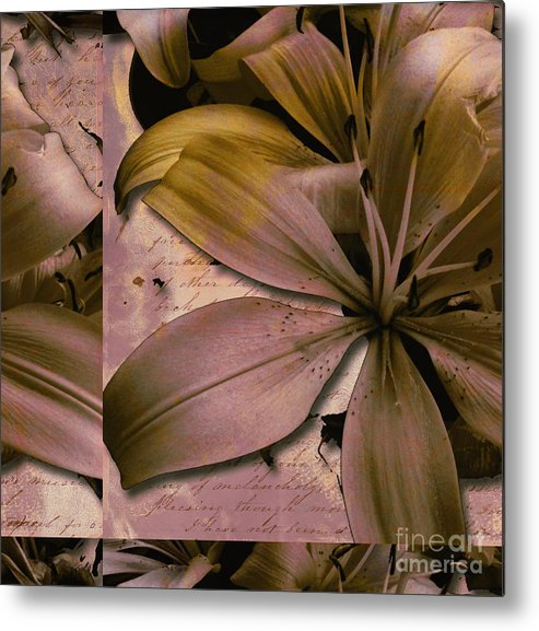 Metal Print featuring the mixed media Bliss by Yanni Theodorou