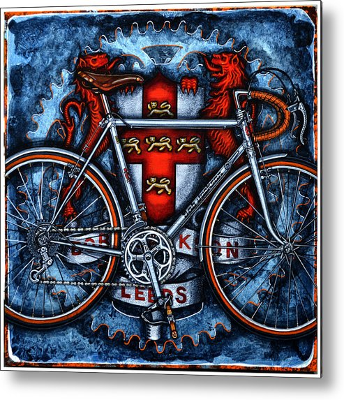 Bicycle Metal Print featuring the painting Bob Jackson by Mark Howard Jones