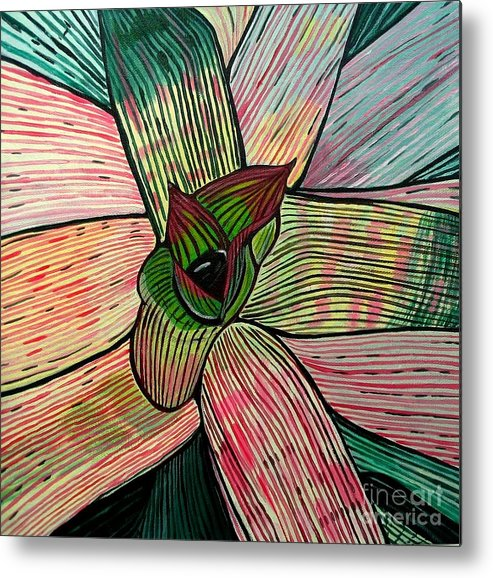 Plant Metal Print featuring the painting Candy by Sandra Marie Adams