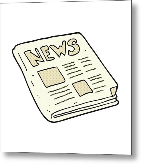 Cartoon Newspaper Metal Print
