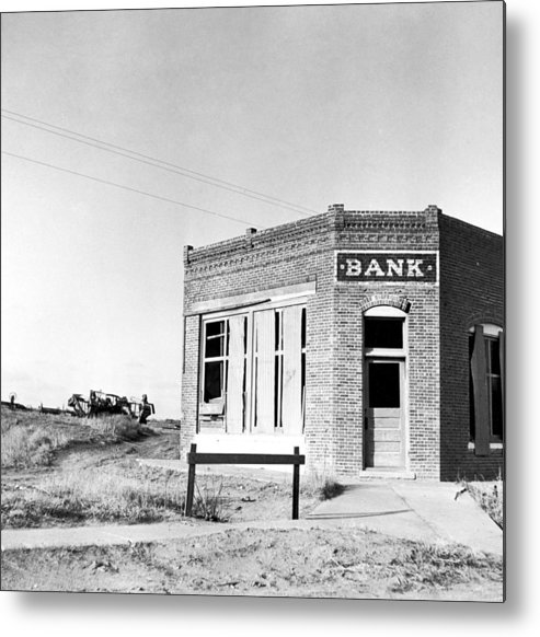 1936 Metal Print featuring the photograph Closed Bank, 1936 by Granger
