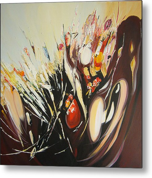 Abstract Metal Print featuring the painting Dance by Inna Bredereck