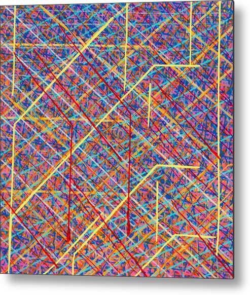 Acrylic Metal Print featuring the painting Data Structure by Patrick OLeary
