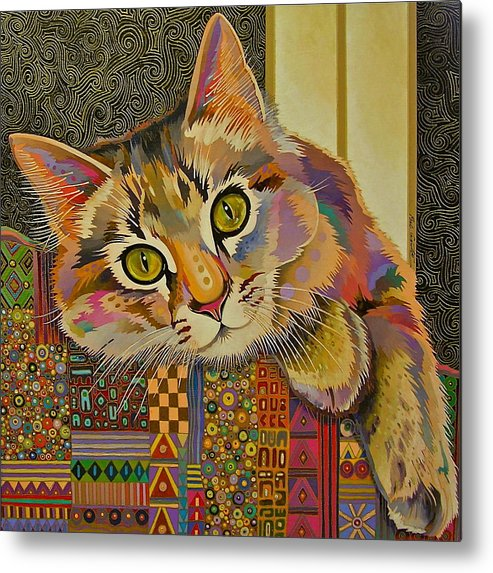 Feline Art Metal Print featuring the painting Diego by Bob Coonts