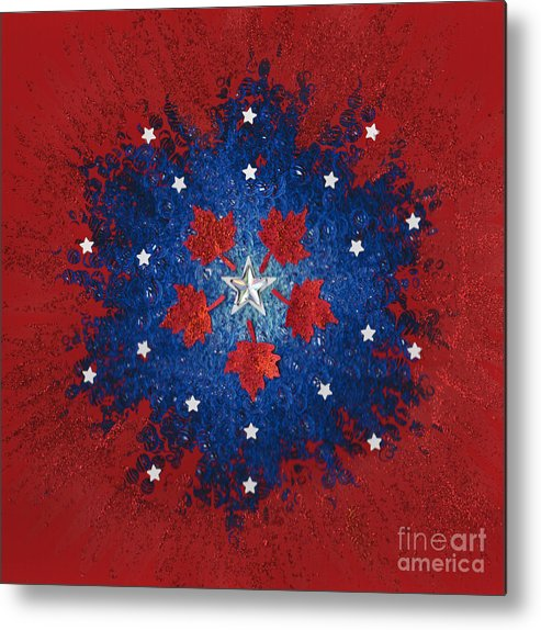Metal Print featuring the mixed media Dual Citizenship 2 by First Star Art