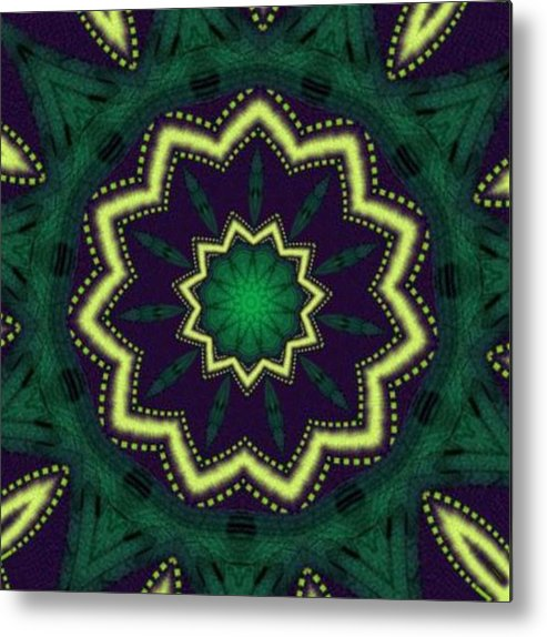 Metal Print featuring the digital art Emerald City by Lady L's Designs