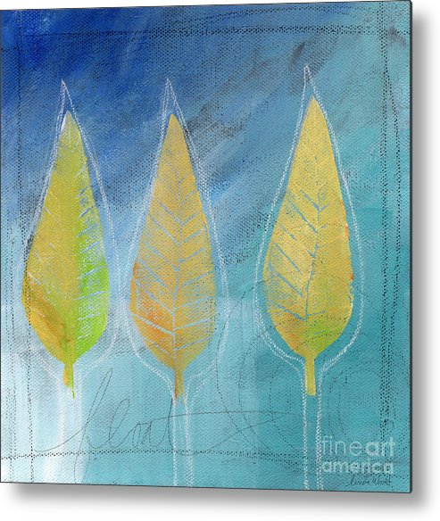 Abstract Metal Print featuring the painting Floating by Linda Woods