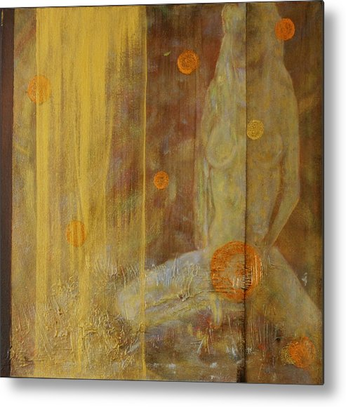 Nude Figurative Metal Print featuring the painting Giveaway by Robert Casarietti