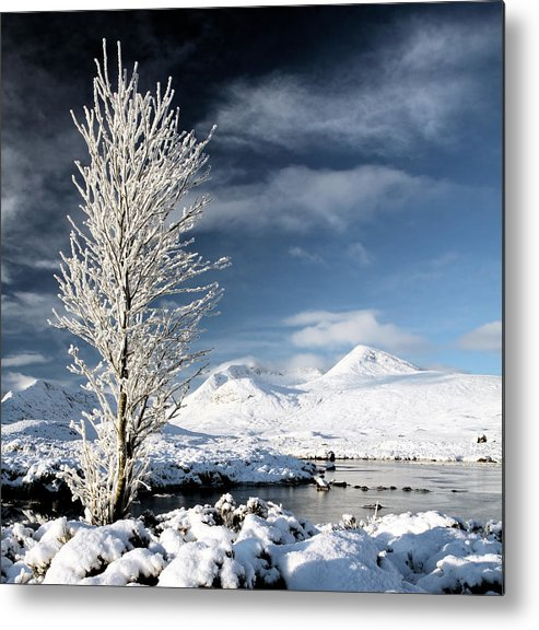 Snow Covered Landscape Metal Print featuring the photograph Glencoe Winter Landscape by Grant Glendinning