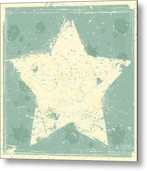 Bright Metal Print featuring the digital art Grunge Background by Miloje