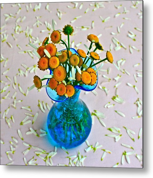 Flowers Metal Print featuring the photograph He Loves Me Bouquet by Frozen in Time Fine Art Photography