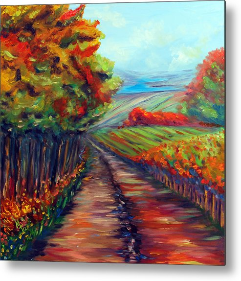 Landscape Metal Print featuring the painting He Walks With Me by Meaghan Troup
