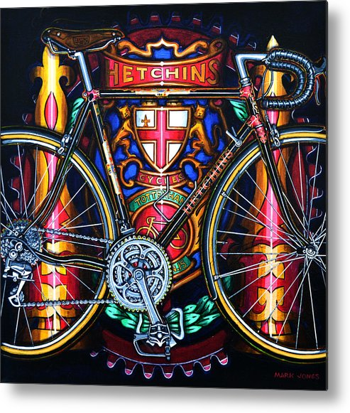Bicycle Metal Print featuring the painting Hetchins by Mark Jones