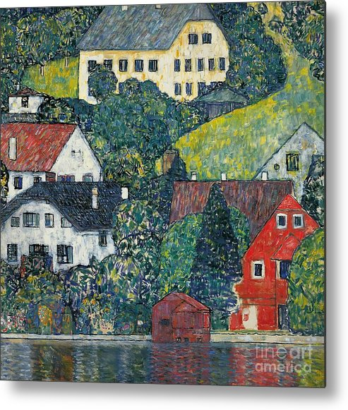 Klimt Metal Print featuring the painting Houses At Unterach On The Attersee by Gustav Klimt
