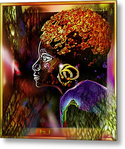 Jungle Princess Metal Print featuring the painting African  Princess by Hartmut Jager