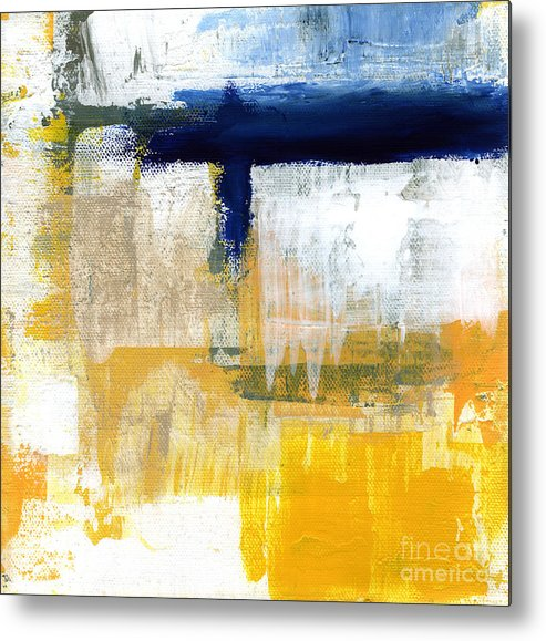 Abstract Metal Print featuring the painting Light Of Day 2 by Linda Woods