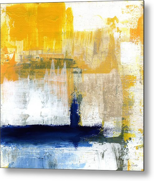 Abstract Metal Print featuring the painting Light Of Day 4 by Linda Woods