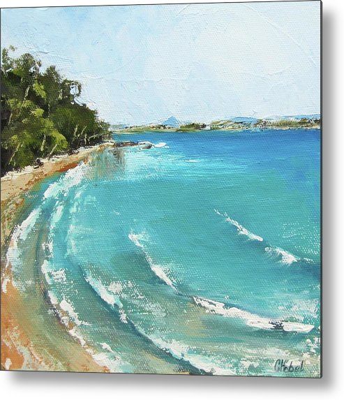 Seascape Metal Print featuring the painting Litttle Cove Beach Noosa Heads Queensland Australia by Chris Hobel