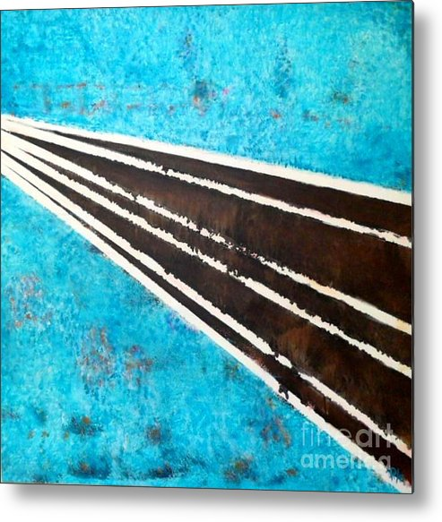 Road Metal Print featuring the painting Making A Way by Daniela Hallgren