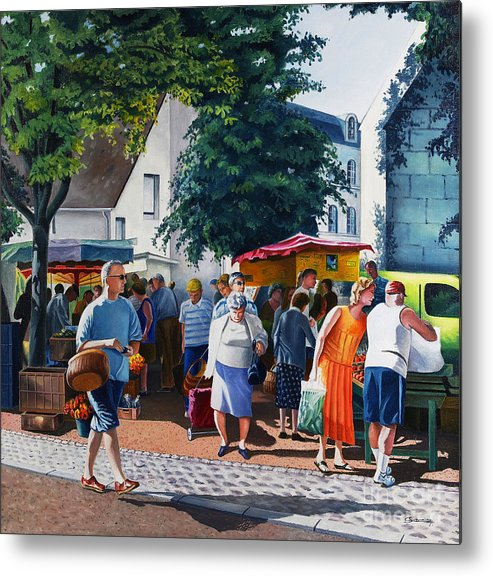 Market Metal Print featuring the painting Market Day by Christian Simonian